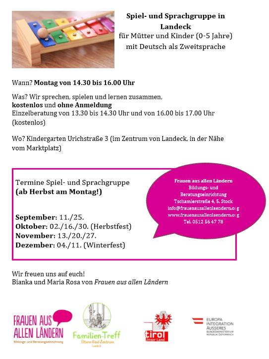 Spiel- und Sprachgruppe Landeck im Herbst